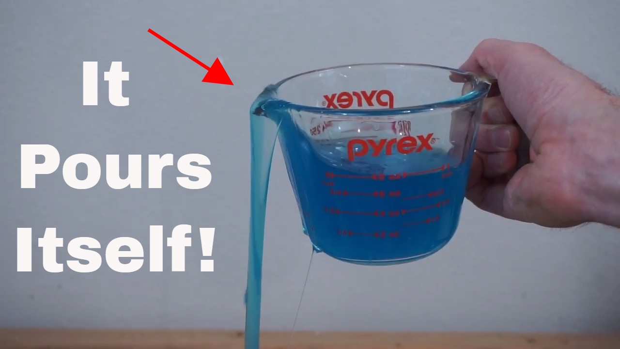 a liquid that pours itself the self siphoning fluid polyethylene