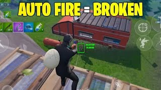 Auto Fire is EXTREMELY Broken in Fortnite Mobile (basically hacks)