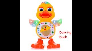 Toykart Dancing Duck with Music Flashing Lights and Real Dancing Action, Multi Color