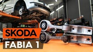 Hur och när byter man Motorkudde bak höger SKODA FABIA Combi (6Y5): videohandledning
