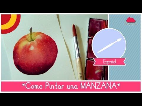 Curso de Acuarela: como pintar una manzana (facil para principiantes) by Fantasvale