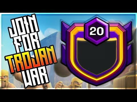 TH 7,8,9 MAX JOIN NOW FOR TROJAN WAR! LIVE LAST MIN WAR CLASH OF CLANS•FUTURE T18