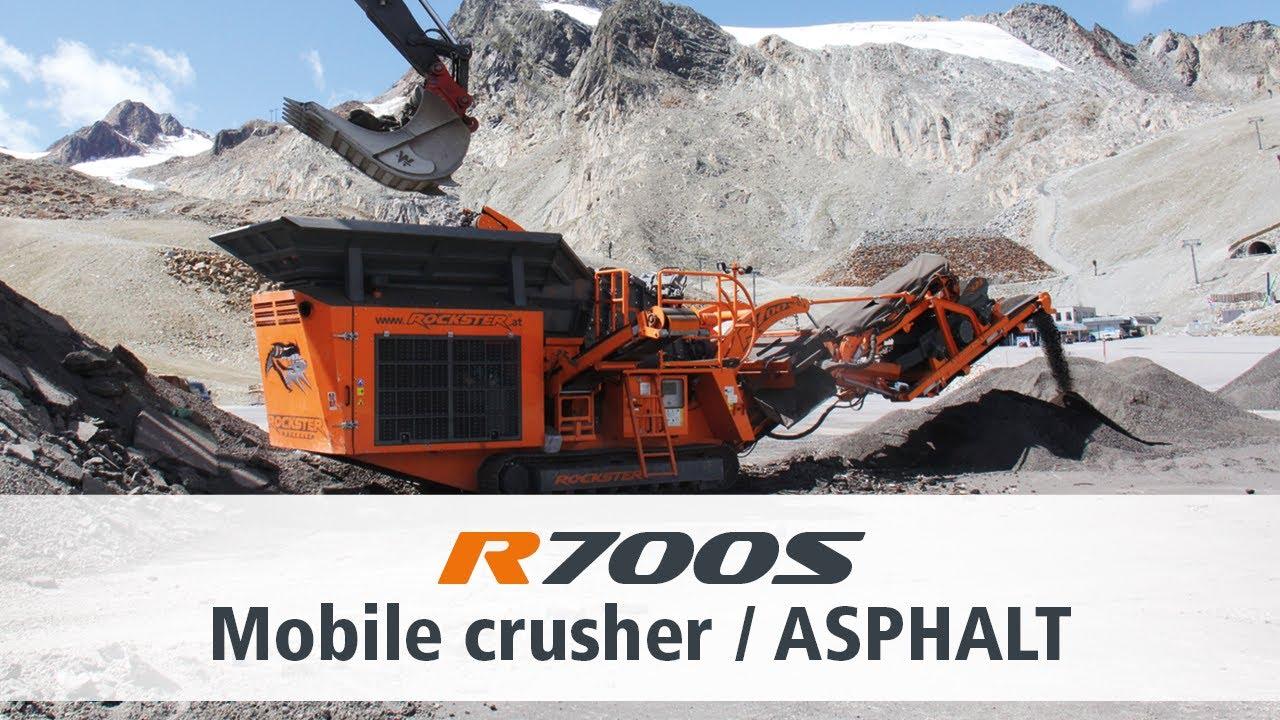 Crushing Asphalt Rockster Impact Crusher R700S / Asphalt brechen Prallbrecher R700S