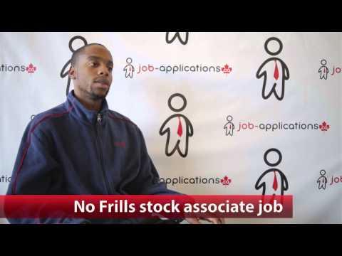No Frills Stock Associate Job
