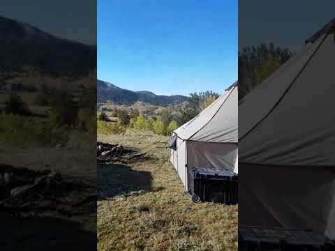 Cabelas 12x12 Alaknak Tent Camping in South Park Colorado Taryyall Lake Sept 2017