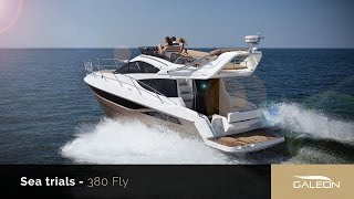 Galeon 380 Fly water trials