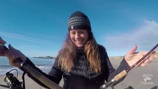 Catching Barred Surf Perch on Sand Crabs!!