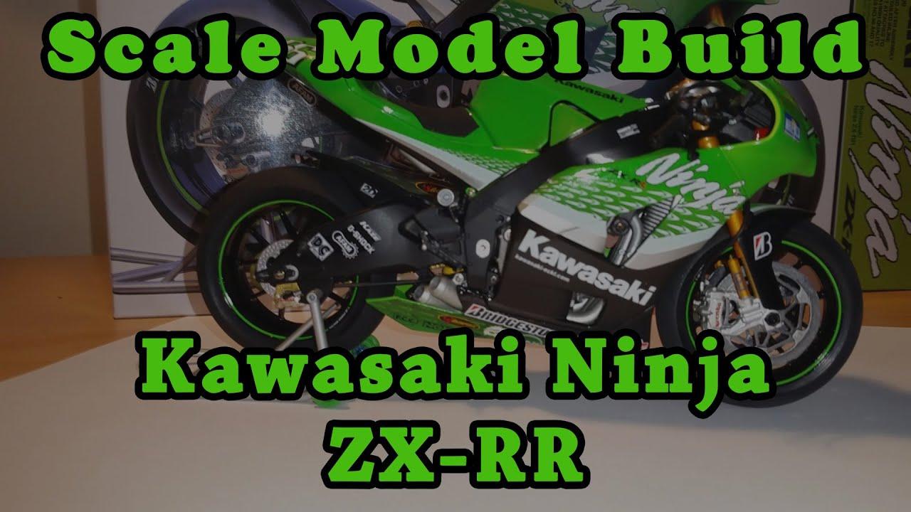 scale model build - kawasaki ninja zx-rr - youtube