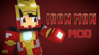Iron Man Mod New Beta!!(Minecraft Mod Showcase) Iron Man!! 1.12.2