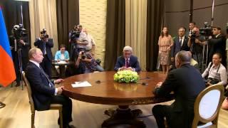 Եռակողմ հանդիման ժամանակ Սերժ Սարգսյանը հարց է ուղղել Իլհամ Ալիևին