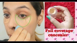 DIY concealer || full coverage with DEMO|| Homemade make your own concealer