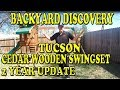 Backyard Discovery Tucson Cedar Wooden Swing Set 2 Year Update