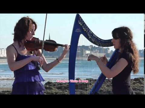 10-HOUR of Pachelbel's Canon in Violin and Harp - Song for study, Song for Sleep