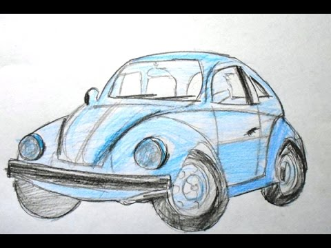 How to Draw a Cartoon Race Car (Easy Way Drawing) - YouTube