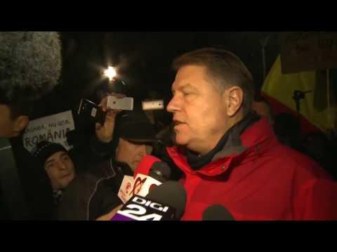 STIRIPESURSE.RO Klaus Iohannis la mitingul anti Gratiere din 22.01.2017