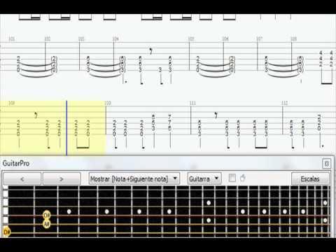 Metallica Battery guitar tab rhythm - YouTube