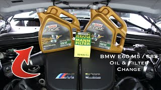 BMW E60 M5 / S85 Oil Filter & Oil Change DIY