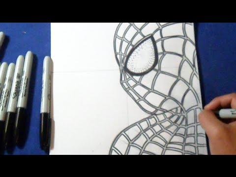 Como Desenhar O Espetacular Homem Aranha 2 Youtube