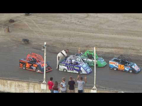 Mini Wedge Heat Race #2 at Crystal Motor Speedway, Michigan on 07-22-2017.