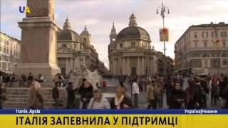 Італія підтримує територіальну цілісність України?>