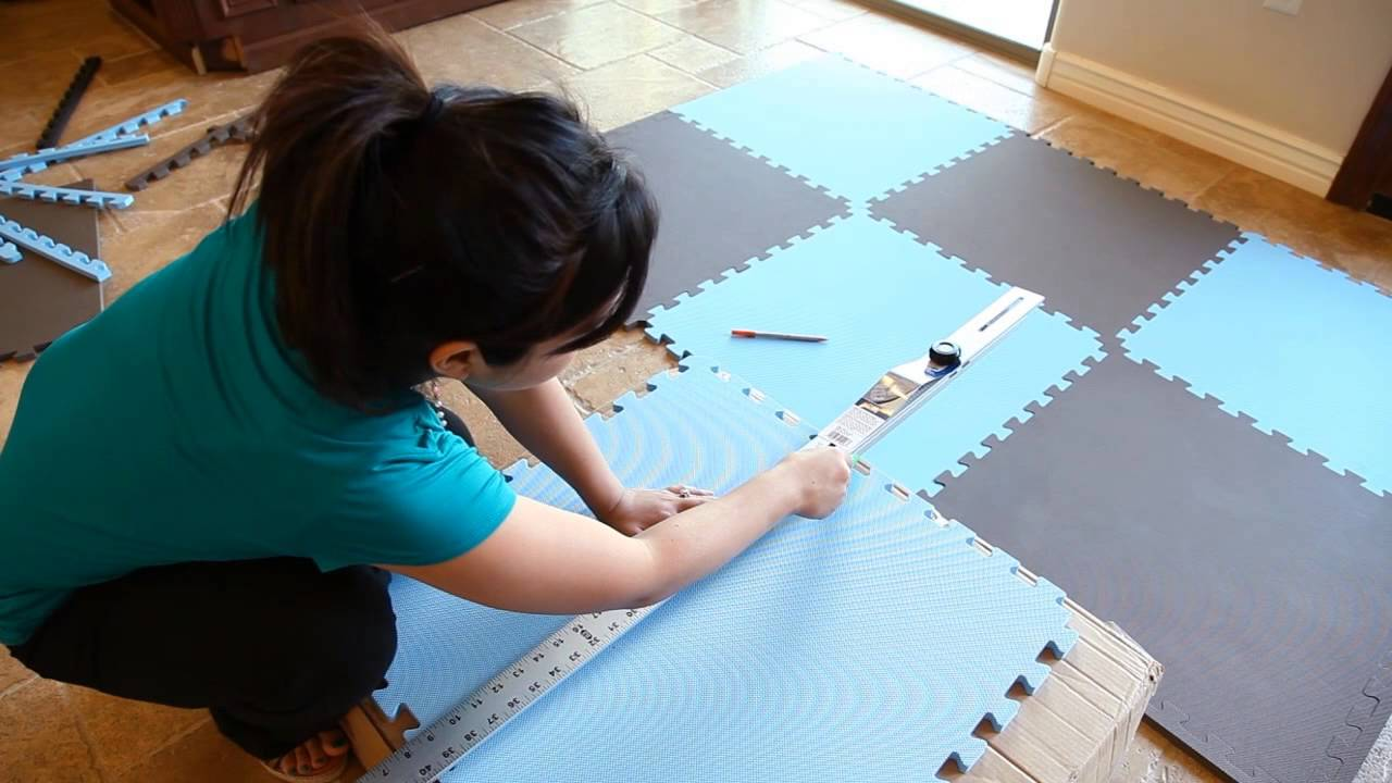 How to Install Foam Tiles Made Easy   YouTube