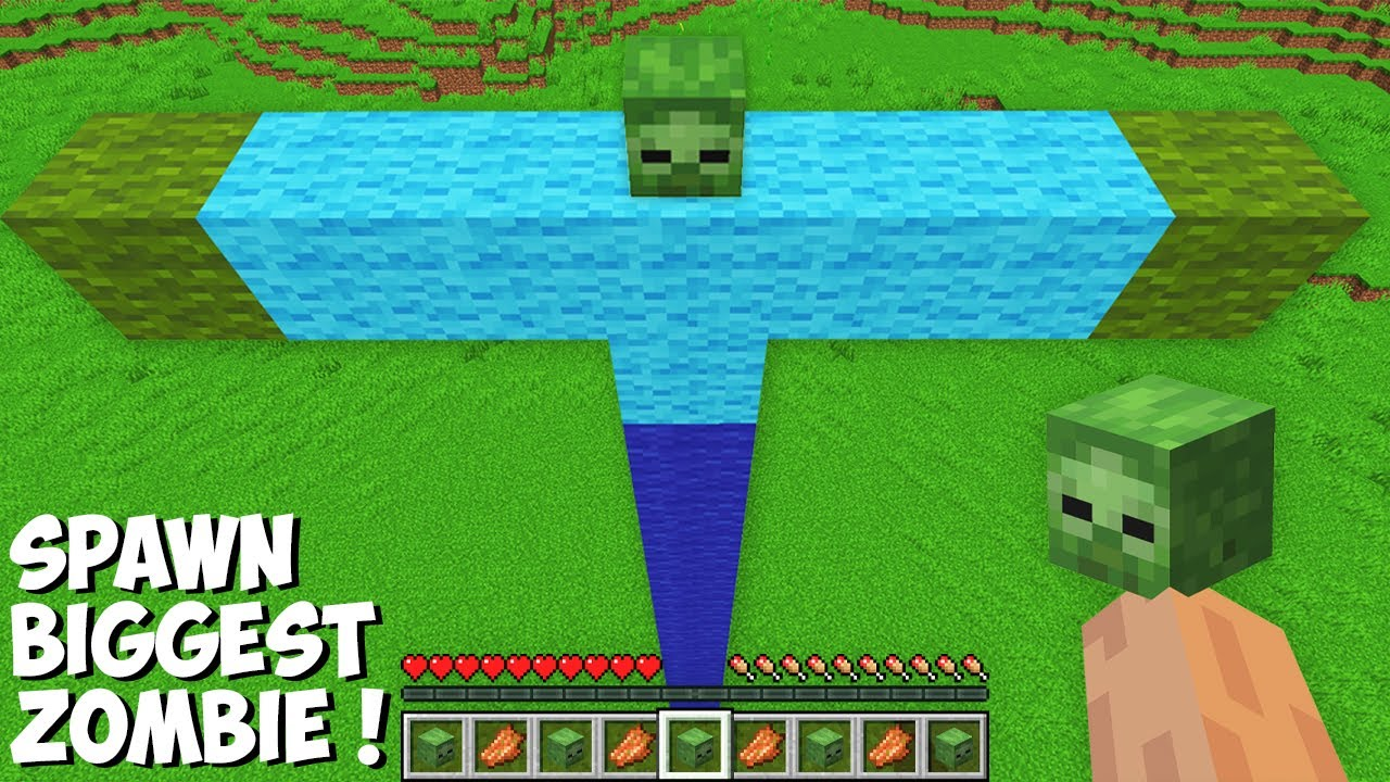 This is a SUPER SECRET WAY TO SPAWN BIGGEST ZOMBIE in Minecraft ! TITAN ZOMBIE !