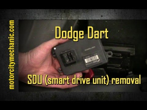 2013 Dodge Dart Smart Drive Unit Sdu Removal Youtube