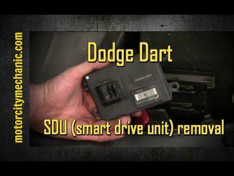 2013 Dodge Dart Smart Drive Unit Sdu Removal Youtube
