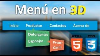 Como crear menú en 3D con HTML5 - CSS3 (Muy fácil)