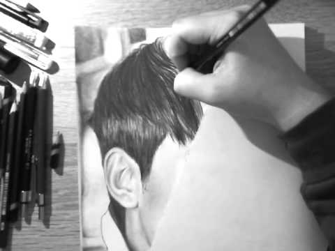 Kim Soo Hyun (김수현) -  Graphite Pencil Drawing (Speed Drawing)