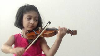 VERY CUTE - 4 year old plays Indian National Anthem - Jana Gana Mana - on Violin
