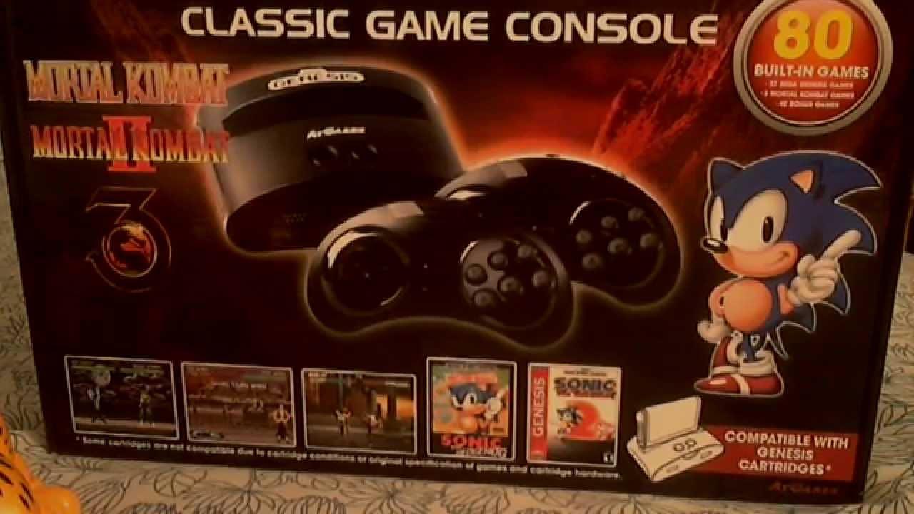 Sega genesis atgames classic game console youtube - Atgames sega genesis classic game console game list ...