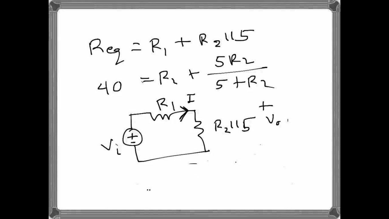 Electrical Engineering Basic Circuit Problem Example