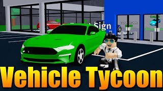I'm BUILDING MY OWN CAR SHOP! 🔥🚗 Roblox Vehicle Tycoon