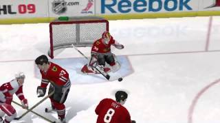 NHL 09 PC season playoff game 4 - Chicago @ Detroit