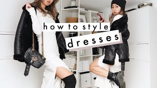 HOW TO STYLE DRESSES FOR WINTER | cold weather outfit ideas