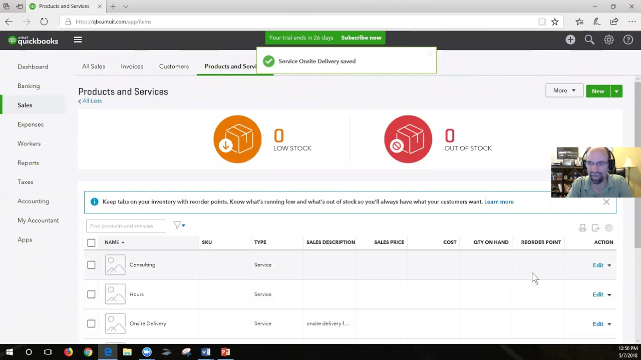 Setting up the Chart of Accounts in QuickBooks Online