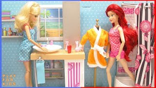 Barbie Doll morning routine in Bedroom and Bathroom 👠