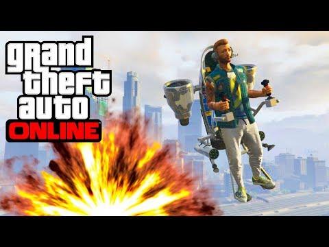 GTA ONLINE INSANE JETPACK DLC | GTA 5 Online Doomsday Heist DLC (Jetpack Trolling)