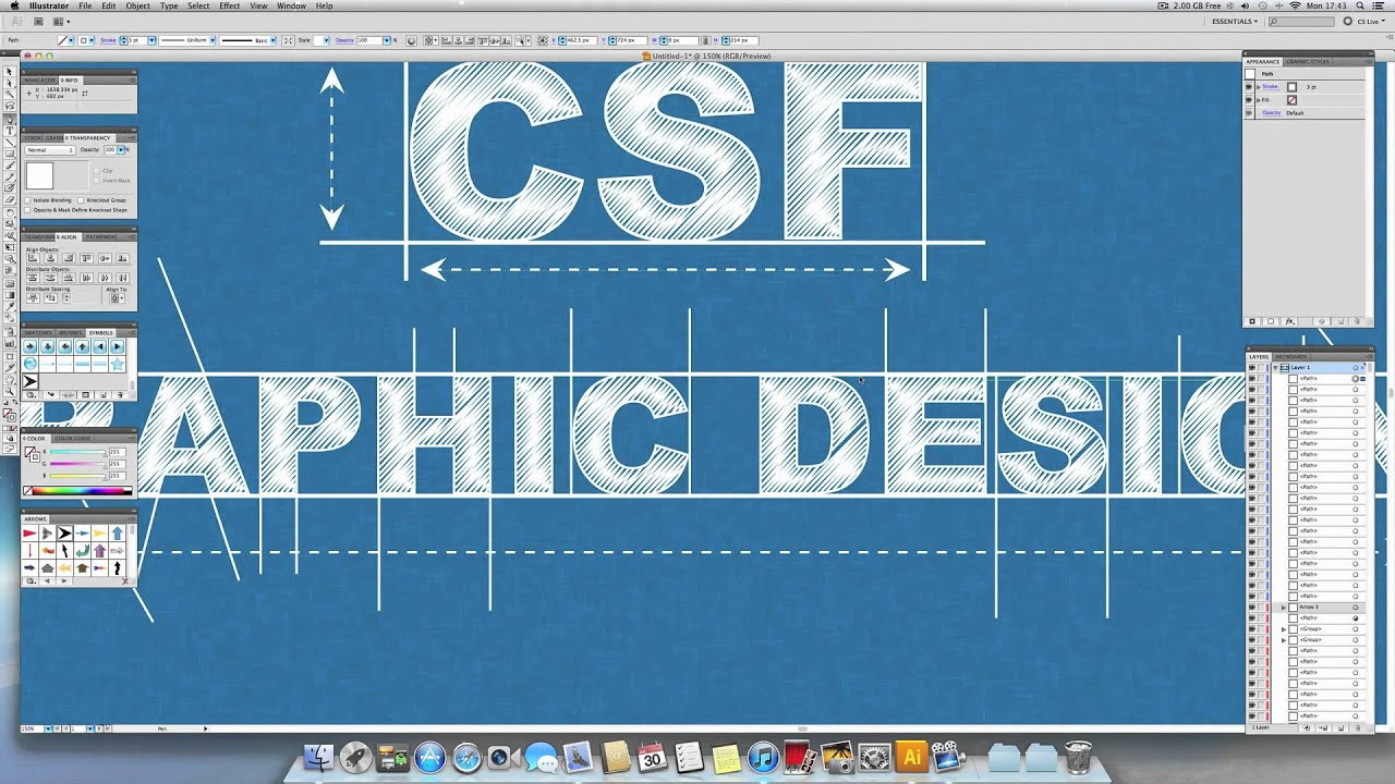 Illustrator speed art blueprint design youtube malvernweather Choice Image