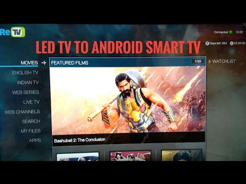 CONVERT YOUR TV IN A SMART ANDROID TV..BY USING ANDROID BOX ....RE TV UNBOXING , QUICK LOOK, REVIEWS