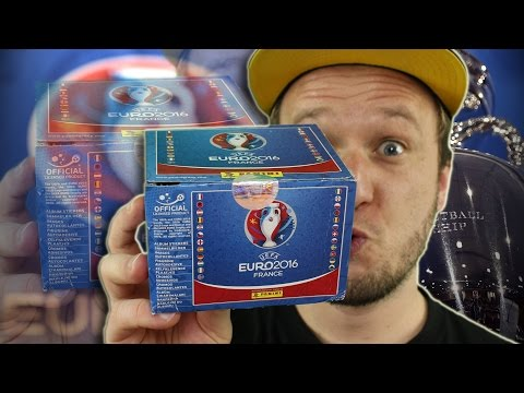 UEFA EURO2016 Sticker DISPLAY 500 Sticker Unboxing