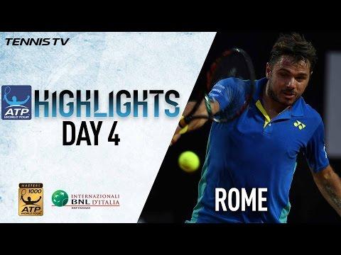 Wednesday Rome Highlights: Nadal, Wawrinka, Raonic Advance