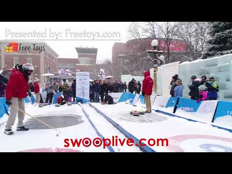 Super Bowl 52 - US Olympic Committee's Team USA Winterfest - SwoopLive Osmo Footage