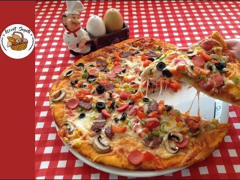 En lezzetli pizza tarifi | Pizza hamuru nasıl yapılır