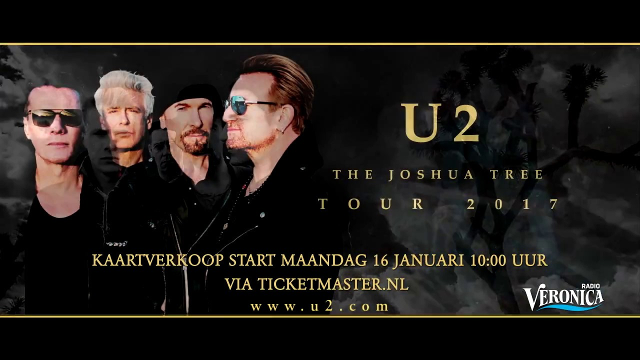 u2 komt 29 juli 2017 naar de amsterdam arena youtube. Black Bedroom Furniture Sets. Home Design Ideas