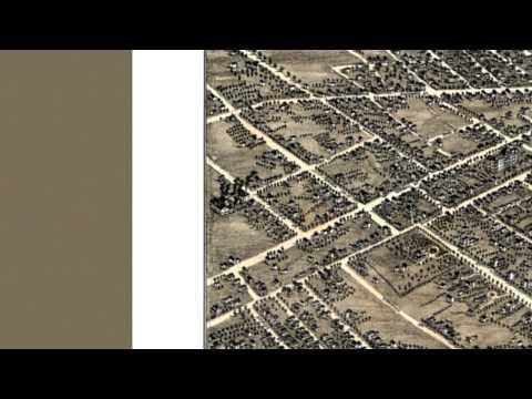 Akron Ohio 1882 Panoramic Bird's Eye View Map 7212