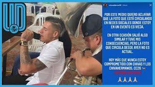 El jugador del Guadalajara aclaró por medio de sus redes sociales que las imágenes publicadas no son actuales