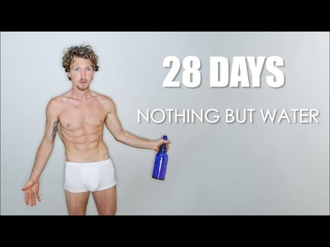 28 DAY WATER FAST  Results  Weight Loss  Experience