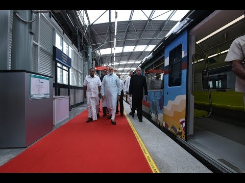 PM Modi Inaugurates Kochi Metro, Palarivattom Metro Station, Kerala
